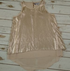 Jennifer Lopez Rose Gold Sequins Blouse